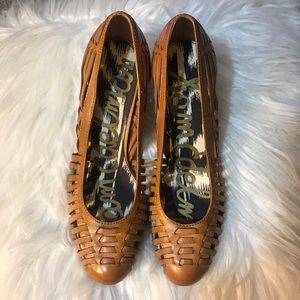Sam Edelman NYC 9.5 Tan Leather Ferran Heels